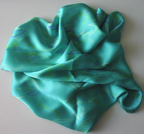 'Leaves', digitally printed on satin. 2001